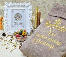 Благородный ореховый цвет махрового халата.