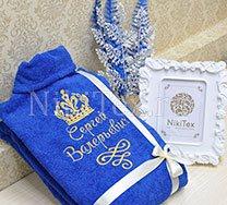 Махровый халат с индивидуальной вышивкой для любимого человека